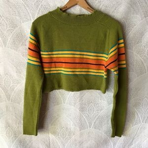 Vintage cropped striped sweater